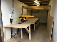 Joiners workshop to rent plus tools