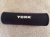 York Barbell Pad Squat Bar Support Heavy Duty Protective Olympic Weight Lifting
