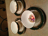 Bone China Cups and Saucers,Mint dishes and Vases