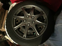 "14"" RIMS with used winter tires"