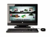 i3 HP TouchSmart 610 touch screen PC/T V set, as new. Original receipt for £1,349.99
