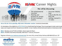 RE/MAX Career Night- #1 RE/MAX Sales Group World Wide