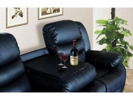 BRAND NEW LEATHER RECLINER SOFAS ***FREE DELIVERY*** Vienna Brown