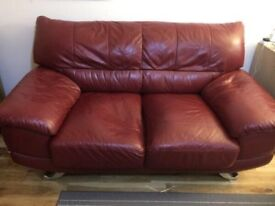 Leather sofa 2 seater no wear n tear