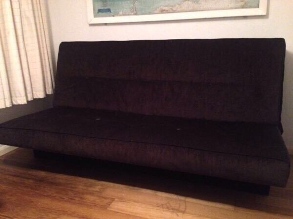 Argos brown textile double sofa bed - please make an offer