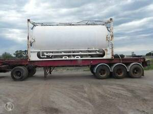 Stoodley 30ft A Trailer Skel with 20ft Framed Tank Wingfield Port Adelaide Area Preview