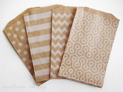 50 Kraft Paper Favor Bags,5 x7.5
