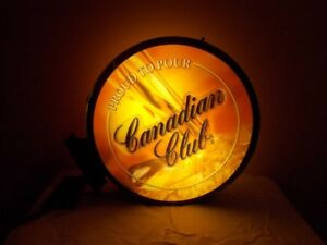 Canadian Club Proud To Pour sign - double sided wall mount