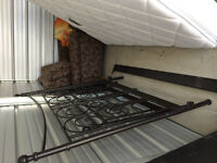 Ikea bed frame boxspring and mattress