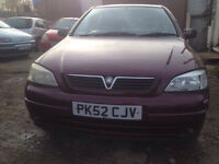 Vauxhall Astra auto cheap 275 no offers