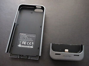 Iphone 5s 32G -with Mophie Case-Locked to Bell Cambridge Kitchener Area image 3