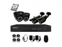 CCTV cameras sale 4 Cameras Hard Drive, DVR, Cables and powers supplies