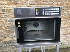stainless miwe gusto 3 tray oven