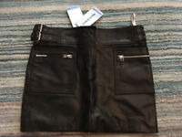 Leather skirt by oasis size 8 brand new