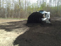 $30 Topsoil mixed with manure, skid steer service available