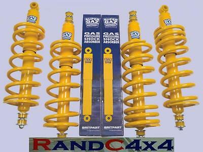 """Land Rover Discovery +2"""" Super Gaz Lift Kit Springs Shock Absorbers 200 300 Tdi"""