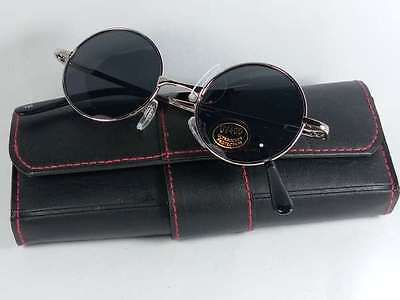 Retro Sunglasses for Men Round Circle Metal Frame Vintage Style Small Face (Frames For Round Faces)
