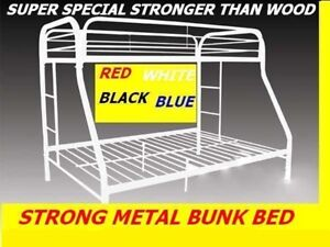SINGLE/S, S/ DOUBLE&DOUBLE/D STRONG METAL BUNK BED ON CLEARANCE