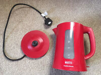 Morphy Richards Brita Filter Red Kettle - can be used with or without filter