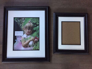 2 Matching Black Picture Frames both for $15