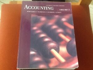 Accounting V1 Canadian 4th edition