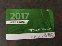 Bus Pass August 2017