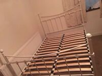 White metal bed frame-Free delivery
