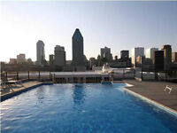 Luxury condo with gym and pool in downtown Montreal