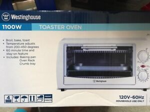 TOASTER OVEN NEVER OPENED
