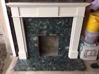 Large fire surround and marble