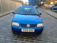 2001 Volkswagen Polo 1.4 Blue 5dr hatchback Manual Petrol MOT March2018 full service history