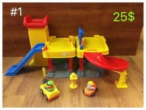 Garage pour véhicules Little people Fisher price