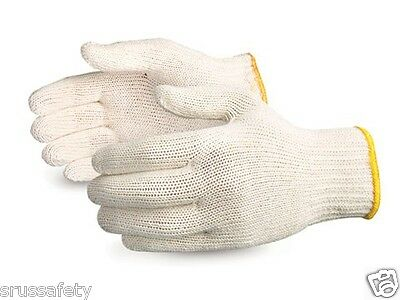 240 Pair White Poly Cotton String Knit Work Gloves - Wcgkr240