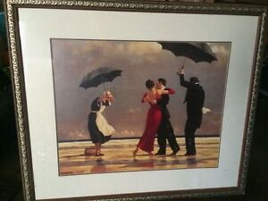 Singing Butler by Jack Vettriano Framed Matted Painting Print