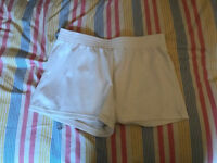 tennis shorts, medium size, white, excellent condition