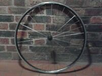 700c lightweight front wheel road bike fast race Alex DA22 radial spoke quick-release good condition