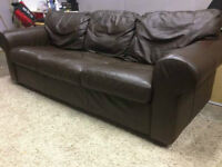Brown Leather Couch - Delivery