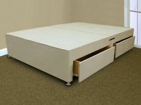 🔵💖SALE ON🔵💖DOUBLE AND KING SIZE DIVAN BED BASE WITH OPTIONAL MATTRESS & HEADBOARD