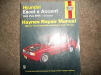 Hyundai Accent And Excel 1986-1998 Shop Manual