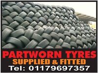 PART WORN TYRES & NEW TYRES (FREE FITTING) from £20