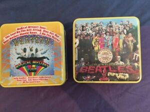 Beatle puzzles in tins