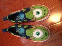 Monsters Inc. size 9 kids shoes NEW