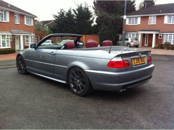 Bmw 330ci M Sport Auto Convertible Petrol Red Leather Interior Long Mot 228 Bhp Excellent