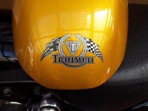 TRIUMPH-THUNDERBIRD MONO CHROME STICKERS FLAGS