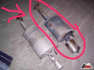 Axle back exhaust from a 8th gen Si
