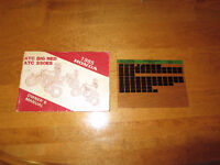 1985 Honda ES 250 Big Red Owners Manual and Microfiche