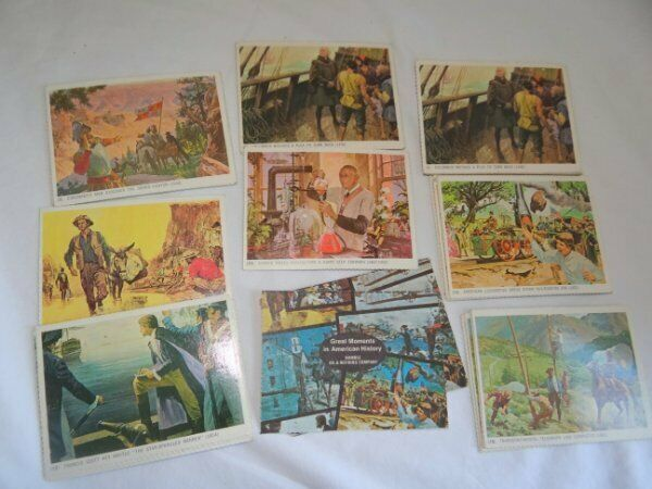 Vintage Humble Oil Promo Cards Great Moments in American History Cards