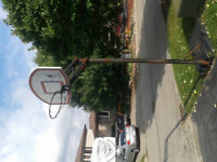 Basketball net with stand for free