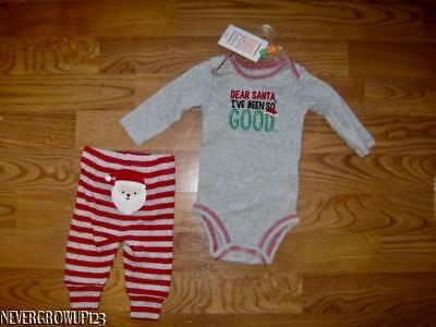 CARTER'S~INFANT~BABY BOYS CHRISTMAS OUTFIT~DEAR SANTA I'VE BEEN SO - Good Christmas Outfits