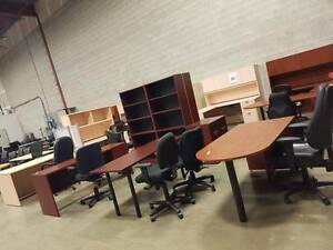 NEW AND USED OFFICE FURNITURE ..LOCKERS , DESKS , CHAIRS , ETC